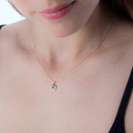 Collier Or Jaune Emeraude Et Diamant - Bijoux Femme | Histoire d'Or