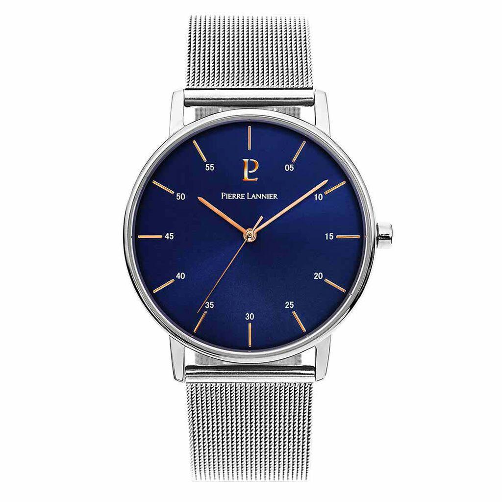 Montre Pierre Lannier Collection Elegance Style Bleu - Montres tendances Homme | Histoire d'Or