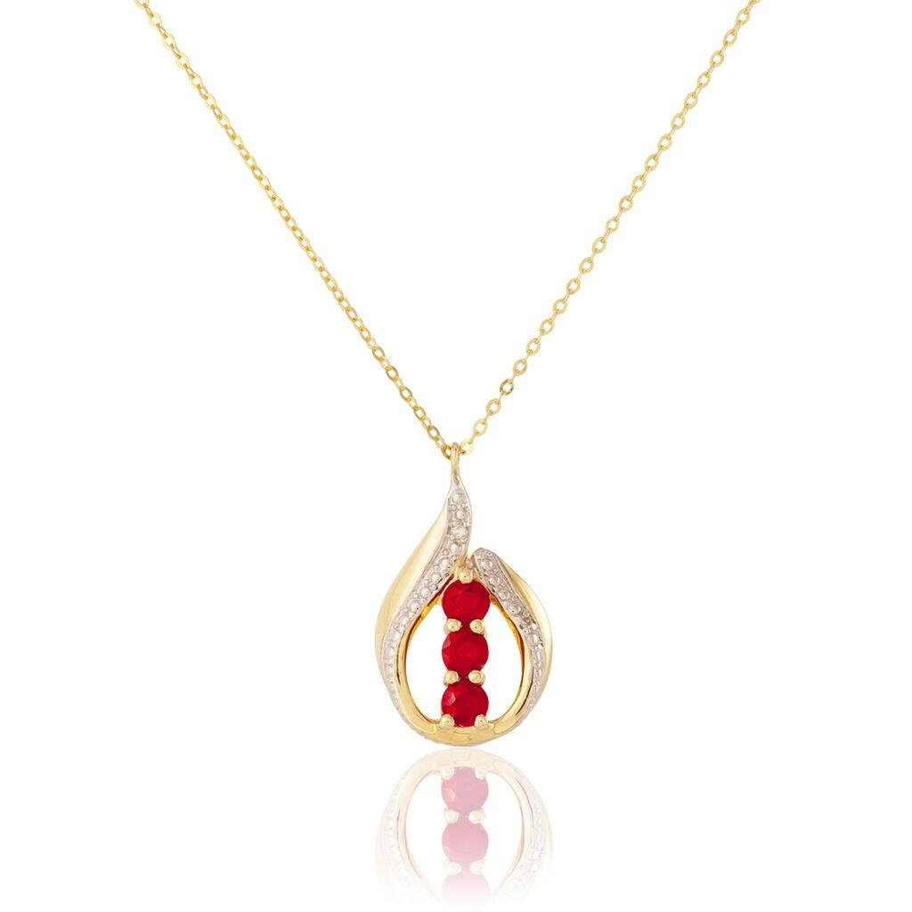 Collier Aurora Or Jaune Rubis Et Diamant - Bijoux Femme | Histoire d'Or