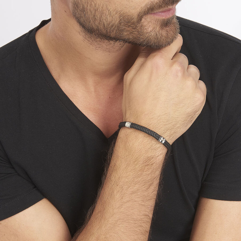 Bracelet Selwaae Or Acier Bicolore - Bijoux Homme | Histoire d'Or