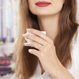 Bague Amantine Argent Blanc Oxyde De Zirconium - Bagues avec pierre Femme   Histoire d'Or