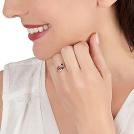 Bague Hoela Or Jaune Diamant Et Rubis - Bagues avec pierre Femme | Histoire d'Or