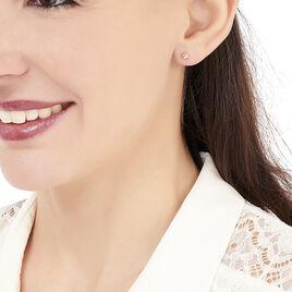 Boucles D'oreilles Or Rose Boule - Clous d'oreilles Femme | Histoire d'Or