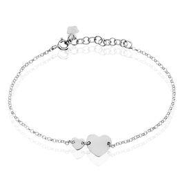 Bracelet Augustine Argent Blanc - Bracelets Coeur Femme   Histoire d'Or