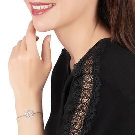 Bracelet Helene Argent Blanc - Bracelets fantaisie Femme | Histoire d'Or