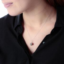 Collier Ocelina Or Blanc Perle De Culture De Tahiti Et Diamant - Bijoux Femme   Histoire d'Or
