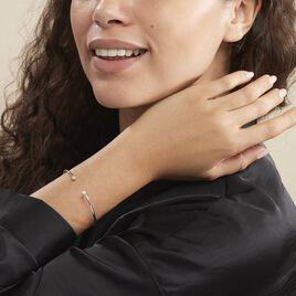 Bracelet Jonc Regine Argent Blanc Oxyde De Zirconium - Bracelets fantaisie Femme | Histoire d'Or