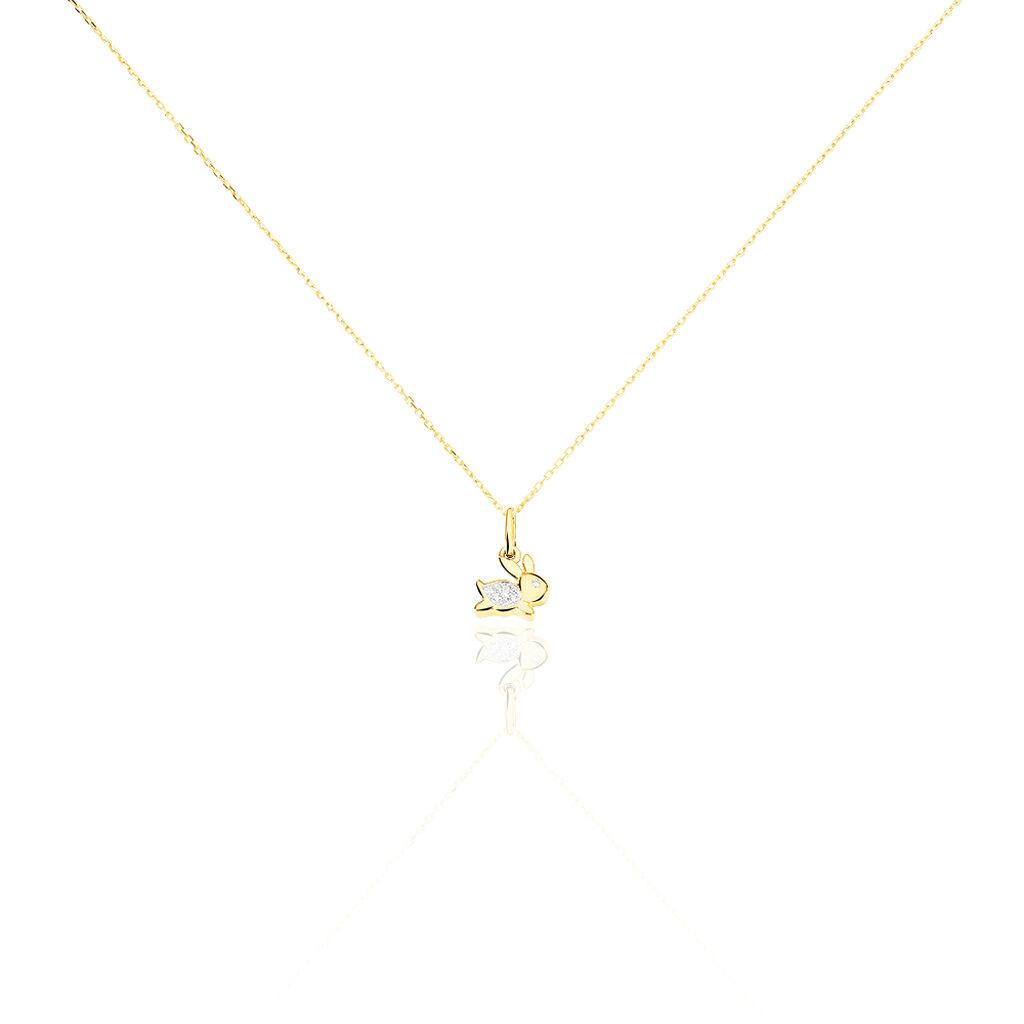 Collier Or Jaune Diamant - Colliers Naissance Enfant | Histoire d'Or
