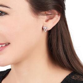 Boucles D'oreilles Pendantes Domnika Argent Blanc Oxyde De Zirconium - Boucles d'oreilles fantaisie Femme   Histoire d'Or