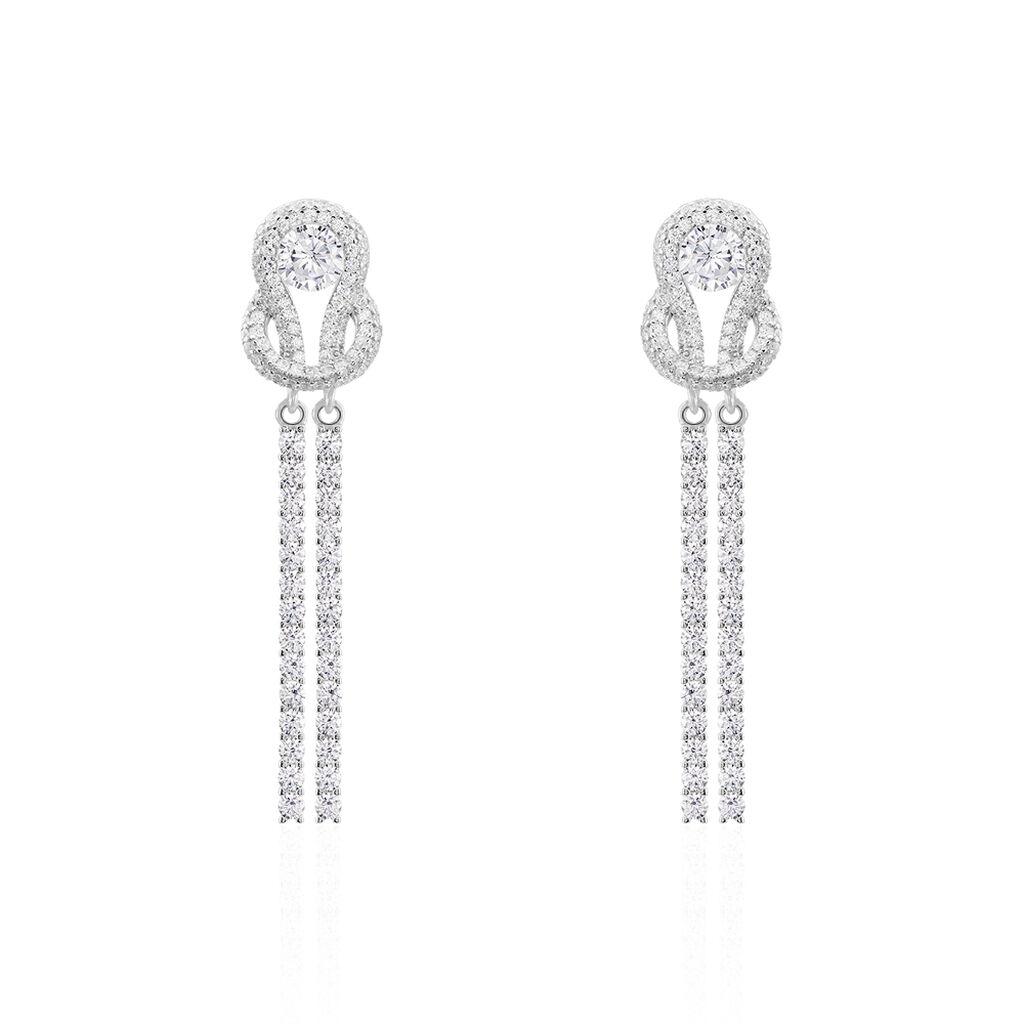 Boucles D'oreilles Pendantes Laetizia Pretty Argent Oxyde - Boucles d'oreilles pendantes Femme | Histoire d'Or