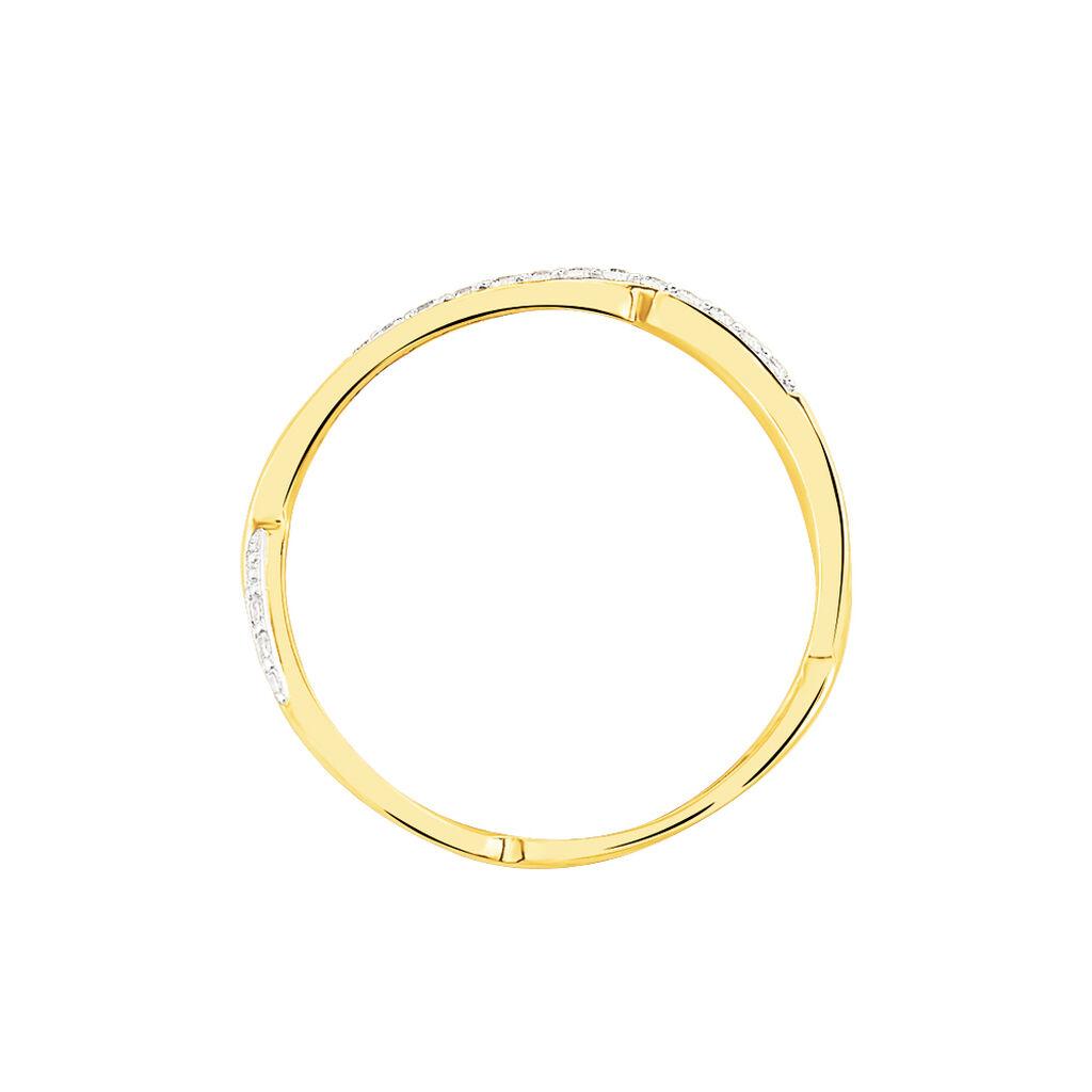 Bague Eister Or Jaune Oxyde De Zirconium - Bagues avec pierre Femme | Histoire d'Or