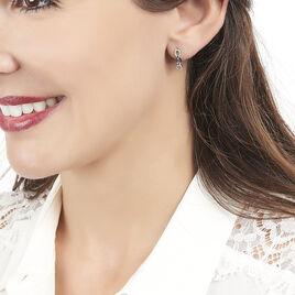 Boucles D'oreilles Puces Neline Or Blanc Diamant - Boucles d'oreilles pendantes Femme | Histoire d'Or