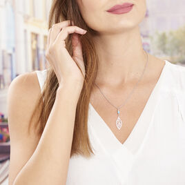 Collier Grethel Argent Blanc Turquoise - Colliers Plume Femme | Histoire d'Or
