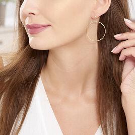 Créoles Ally Cercles Ajourés Or Jaune - Boucles d'oreilles créoles Femme   Histoire d'Or