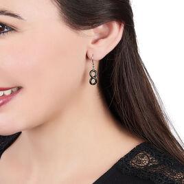 Boucles D'oreilles Pendantes Alicia Argent Blanc Céramique - Boucles d'Oreilles Infini Femme   Histoire d'Or