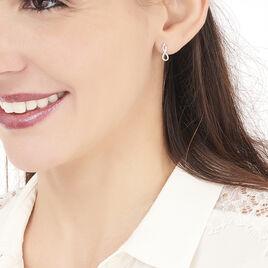 Boucles D'oreilles Puces Samy Or Blanc Diamant - Clous d'oreilles Femme   Histoire d'Or