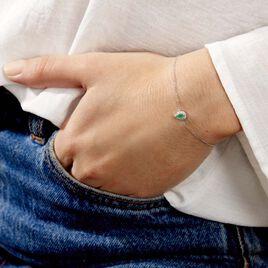 Bracelet Juliettina Or Blanc Emeraude Et Diamant - Bijoux Femme   Histoire d'Or