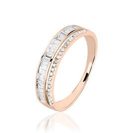 Bague Constance Or Rose Diamant - Bagues avec pierre Femme | Histoire d'Or