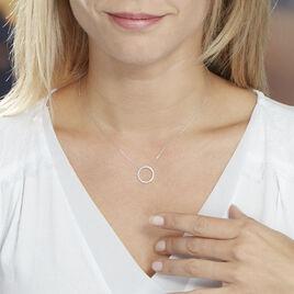 Collier Amene Or Blanc Diamant - Bijoux Femme   Histoire d'Or