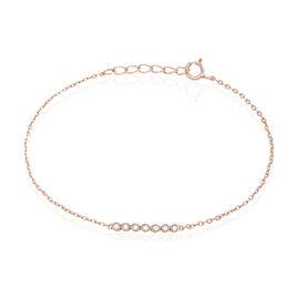 Bracelet Aryles Argent Rose Oxyde De Zirconium - Bracelets fantaisie Femme | Histoire d'Or