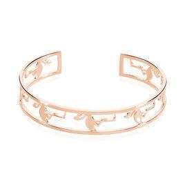 Bracelet Jonc Flamingo Argent Rose - Bracelets joncs Femme   Histoire d'Or