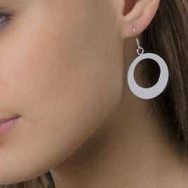Boucles D'oreilles Pendantes Naomi Argent Blanc - Boucles d'oreilles fantaisie Femme | Histoire d'Or
