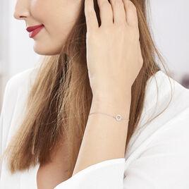 Bracelet Elenza Argent Blanc - Bracelets Coeur Femme | Histoire d'Or
