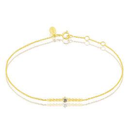 Bracelet Duo Or Jaune Diamant - Bijoux Femme   Histoire d'Or