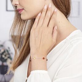Bracelet Siaae Argent Blanc Ambre - Bracelets fantaisie Femme   Histoire d'Or