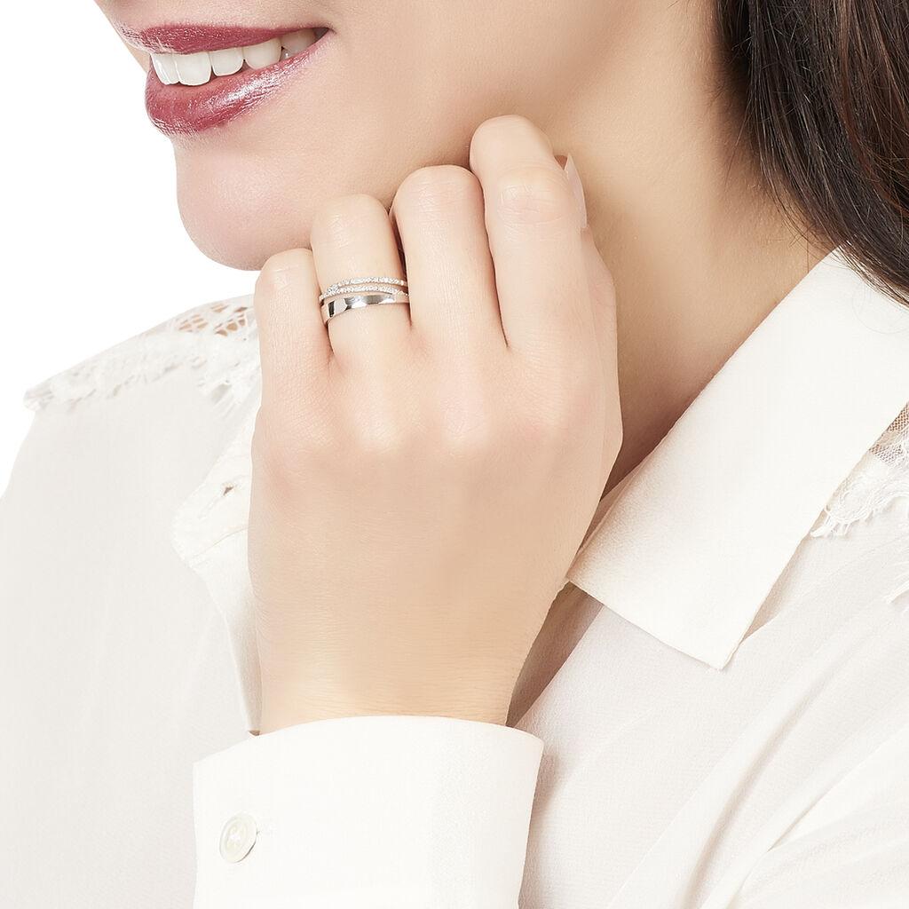 Bague Angele Or Blanc Diamant - Bagues avec pierre Femme | Histoire d'Or