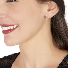 Boucles D'oreilles Puces Eirena Or Blanc Diamant - Clous d'oreilles Femme | Histoire d'Or
