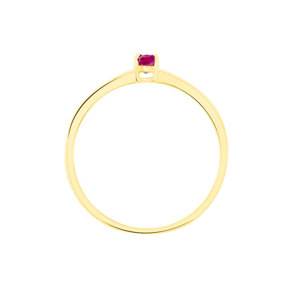 Bague Solitaire Dota Or Jaune Rubis - Bagues avec pierre Femme | Histoire d'Or