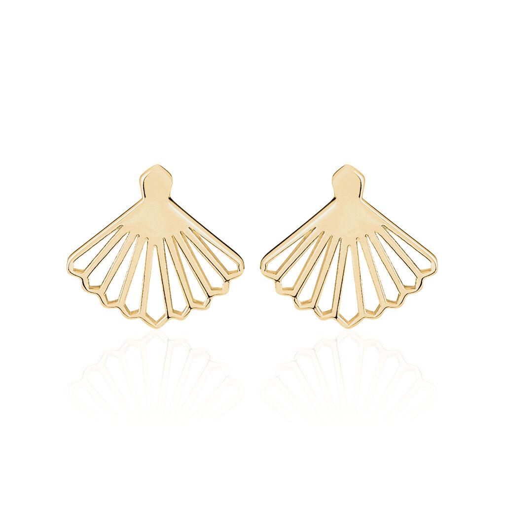 Boucles D'oreilles Dépareillées Plaque Or Jaune - Boucles d'oreilles fantaisie Femme | Histoire d'Or