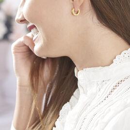 Créoles Casilda Acier Jaune - Boucles d'oreilles créoles Femme | Histoire d'Or