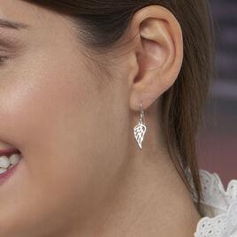 Boucles D'oreilles Pendantes Taiana Argent Blanc - Boucles d'oreilles fantaisie Femme   Histoire d'Or
