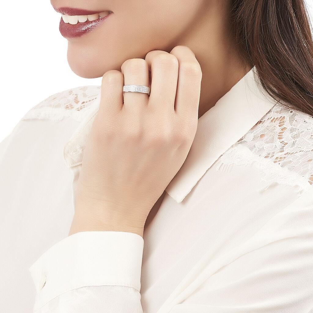 Bague Katniss Argent Blanc Oxyde De Zirconium - Bagues avec pierre Femme | Histoire d'Or