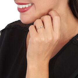 Bague Solitaire Vilma Or Blanc Diamant - Bagues avec pierre Femme   Histoire d'Or