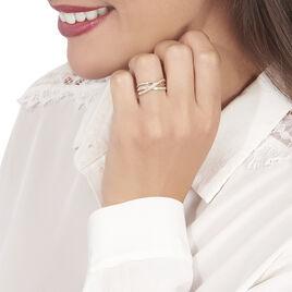 Bague Sabera Or Tricolore Diamant - Bagues avec pierre Femme   Histoire d'Or