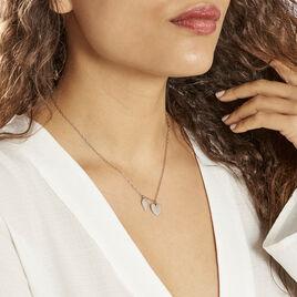 Collier Argent Blanc Laios - Colliers Coeur Femme | Histoire d'Or