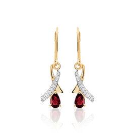 Boucles D'oreilles Pendantes Dyanah Plaque Or Jaune Oxyde De Zirconium - Boucles d'oreilles fantaisie Femme   Histoire d'Or