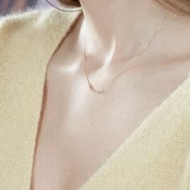 Collier Carolyne Or Jaune Oxyde De Zirconium - Bijoux Femme   Histoire d'Or