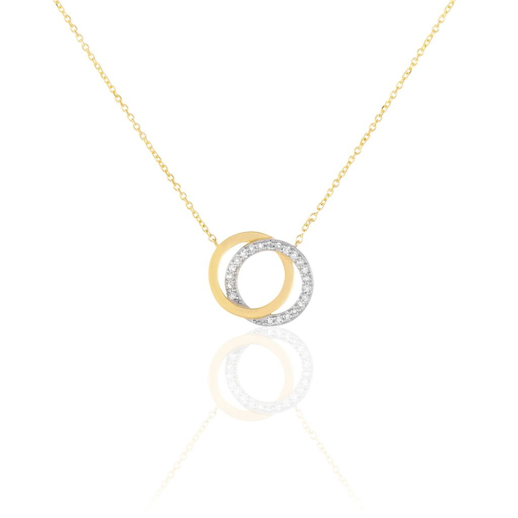 Collier Absolu Or Jaune Et Diamant 42cm - Bijoux Femme | Histoire d'Or