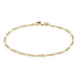 Bracelet Clency Maille Alternée 1/3 Plaque Or Jaune - Bracelets chaîne Femme   Histoire d'Or