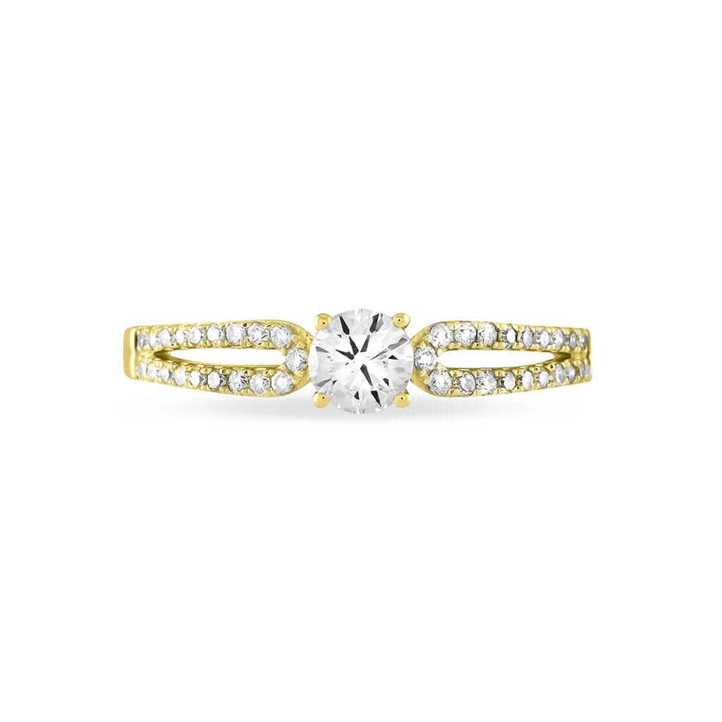 Bague Solitaire Katalina Or Jaune Diamant - Bagues avec pierre Femme   Histoire d'Or
