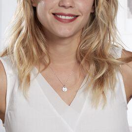 Collier Xanthie Argent Rhodie Oxyde - Colliers Coeur Femme   Histoire d'Or
