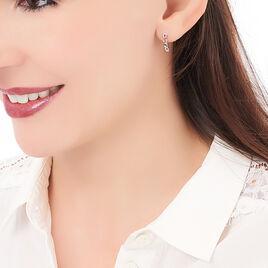 Créoles Kezya Argent Blanc - Boucles d'oreilles créoles Femme   Histoire d'Or
