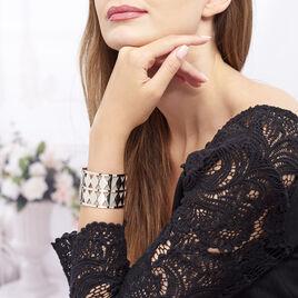 Bracelet Manchette Adaline Acier Blanc - Bracelets fantaisie Femme   Histoire d'Or