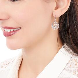 Boucles D'oreilles Pendantes Hita Argent Blanc - Boucles d'oreilles fantaisie Femme | Histoire d'Or