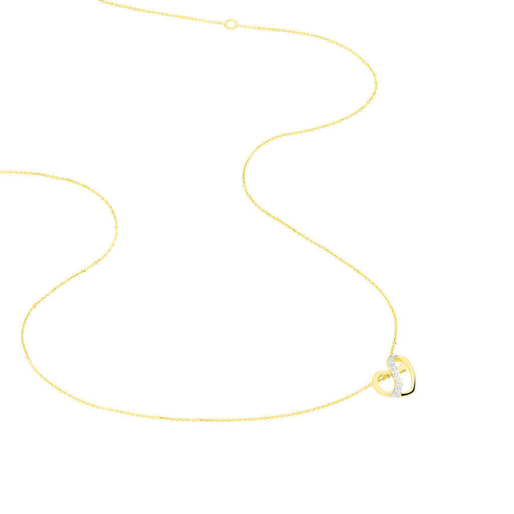 Collier Juliane Or Jaune Diamant