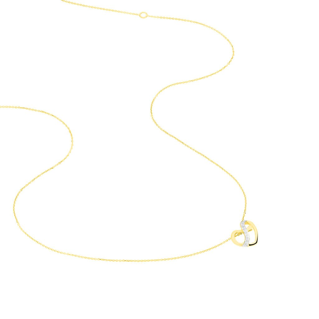 Collier Juliane Or Jaune Diamant - Colliers Coeur Femme | Histoire d'Or